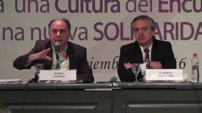 Alberto Fernández, sobre Mario Cafiero: