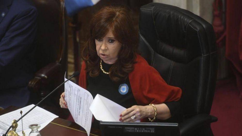 Cristina abre el recinto para remover a los jueces de los cuadernos y prorrogar las sesiones remotas