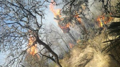 Controlaron el incendio de un basural en el Valle de Traslasierra