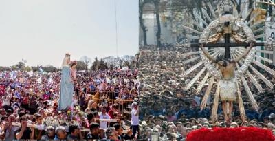 La mayoría de las manifestaciones de fe masivas, suspendidas