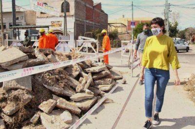 Mayra Mendoza supervisó el inicio de obras de infraestructura y seguridad en Bernal Oeste