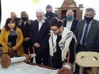 Mons. Dus celebró con la comunidad judía la llegada del año nuevo