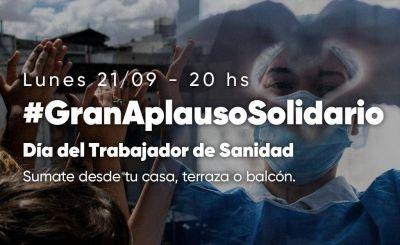 #GranAplausoSolidario en el Día del Trabajador de Sanidad
