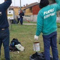 Mar Chiquita: realizan trabajos en localidades de la costa en el marco del programa Playas Limpias