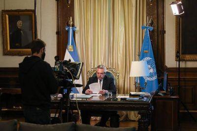 El discurso de Alberto Fernández ante la ONU, con reminiscencias al Papa