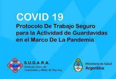 Protocolo del SUGARA con medidas preventivas contra COVID 19 para los guardavidas