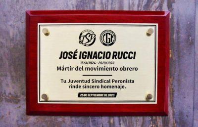 La Juventud Sindical CGT triplicó el homenaje a Rucci y hasta participó el Padre Pepe