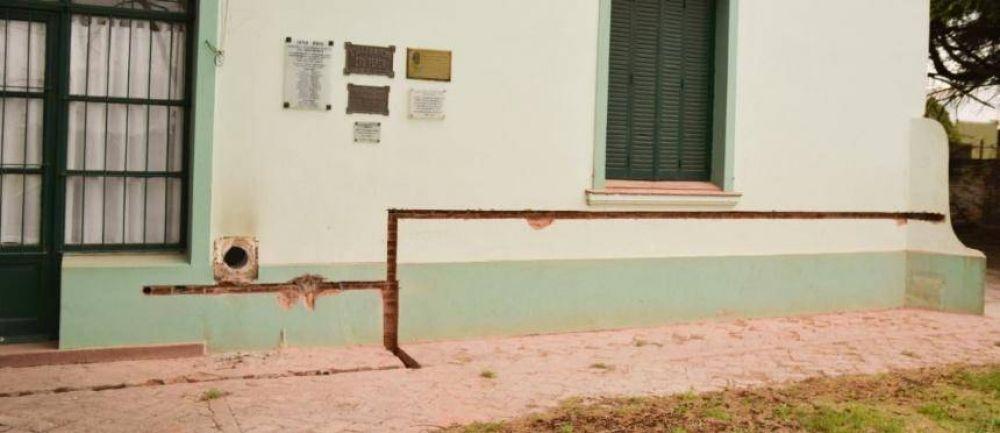 Obras de gas en escuelas