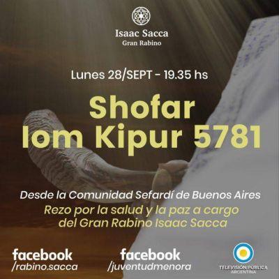 El sonido del Shofar se escuchará por la TV Pública a las 19.35 hs del hoy