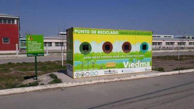 Colocan cartelería en las Estaciones de Reciclaje de Viedma