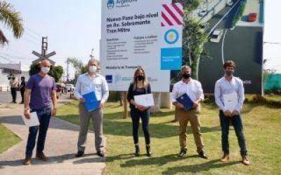 San Fernando: Firmaron convenio para la construcción de un Paso Bajo Nivel en Victoria