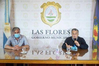 Las Flores: Conferencia del Intendente Gelené por los altos casos positivos de Covid