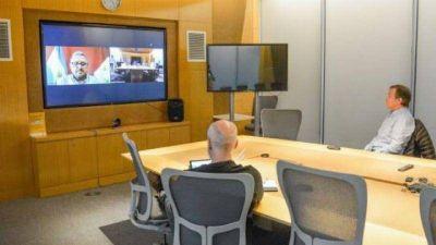 Musso mantuvo una videoconferencia con Horacio Rodríguez Larreta