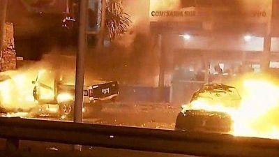 Colectiveros quemaron autos y cortaron la General Paz tras el crimen de un conductor