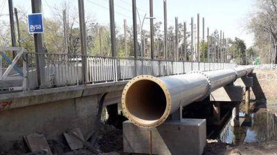 Avanza la construcción del acueducto de AySA en Ingeniero Maschwitz