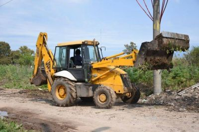 El Municipio refuerza tareas de higiene urbana en Carolina II