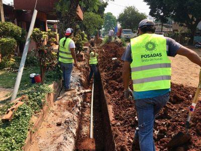 Extienden la red de agua en el barrio San Miguel