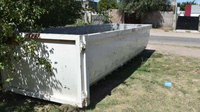Ubicación de las bateas para deponer residuos voluminosos