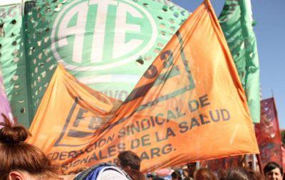 Profesionales de la salud y Docentes universitarios se suman a la protesta callejera de ATE