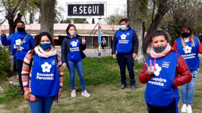 Encuentro Peronista puso en marcha el voluntariado