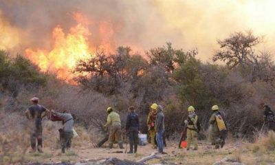 350 bomberos siguen ante el fuego en las sierras del sur: confirman la intencionalidad de reinicios