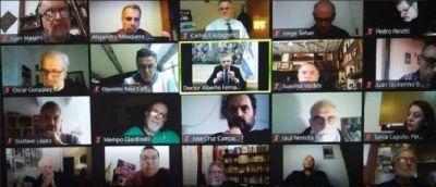 """Alberto Fernández encabezó un encuentro virtual bajo el lema """"Para pensar el Frente de Todos"""": participó el intendente Cáffaro"""