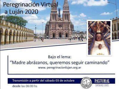 Peregrinación Juvenil virtual: la imagen cabecera partió de Liniers