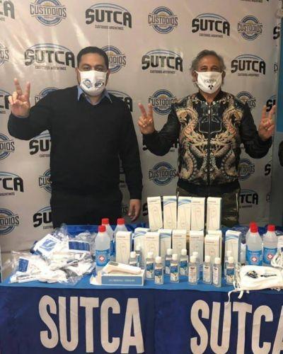 Sindicato de Custodios dona termómetros a Salta