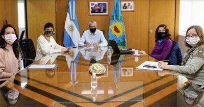 Ferraresi se reunió con Mayra Mendoza y autoridades de Vialidad Nacional