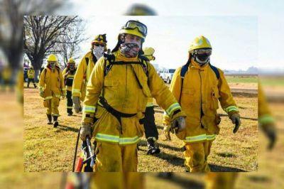 Bomberos pampeanos preparados para colaborar con los incendios