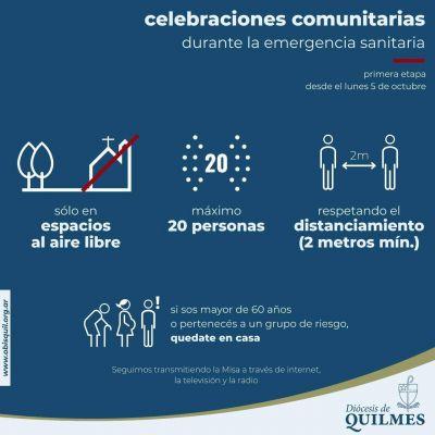 El Obispado de Quilmes celebra el regreso de las misas al aire libre