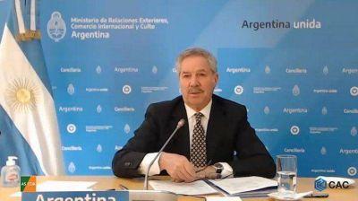 Solá aseguró que el Gobierno apoya el informe de Bachelet, pero manifestó su rechazo a las sanciones sobre Venezuela