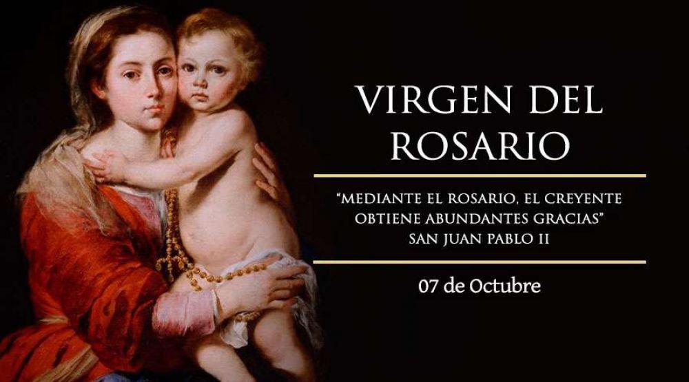 Hoy la Iglesia celebra a Nuestra Señora del Rosario