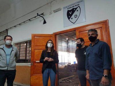 Tigre: Rodrigo Álvarez e Inés Arrondo visitaron el Club Deportivo Vito Dumas