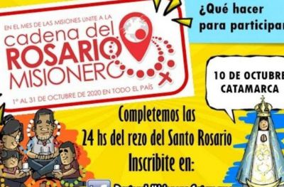 Catamarca se une en la Cadena Nacional del Rosario Misionero