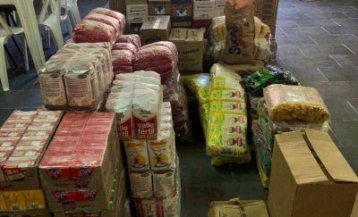 Cáritas recibió una donación de más de mil kilos de alimentos