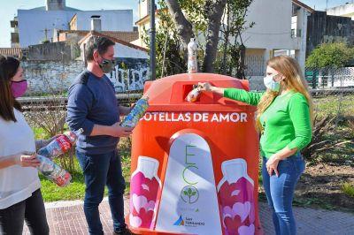 San Fernando ya recicló 8 mil kilos de 'Botellas de Amor' con plásticos de un solo uso