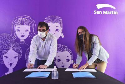 Fernando Moreira y Gómez Alcorta firmaron convenios de asistencia y acompañamiento en casos de violencia de género