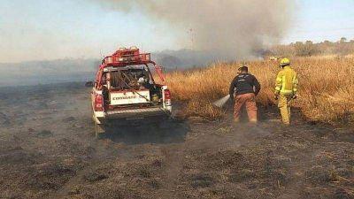 Incendios: Realizan guardia de cenizas en Traslasierra