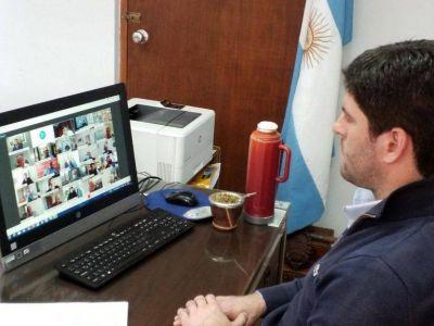 Cordonnier en videoconferencia con autoridades provinciales y otros intendentes