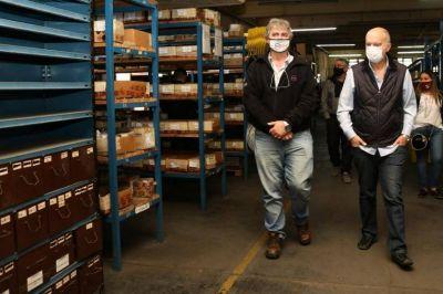 Grindetti recorrió las instalaciones de la empresa DMD en Villa Diamante