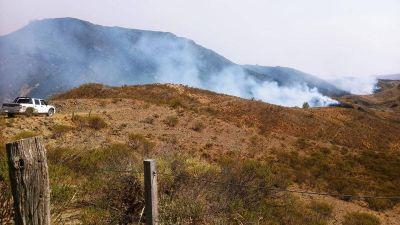 Bomberos trabajaron sobre un incendio activo y monitorearon otros puntos calientes