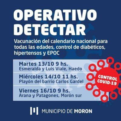 El Municipio realizará operativos de detección temprana de COVID-19 en Haedo, Morón sur y El Palomar