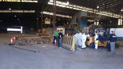 Entre la basura, hallaron restos humanos en la planta de tratamiento de la CEAMSE