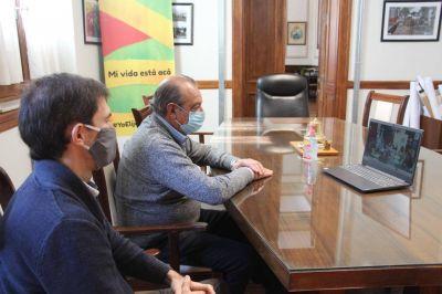 El intendente participó de un evento virtual con el gobernador Axel Kicillof