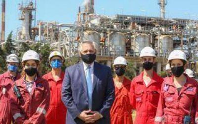 Alberto Fernández en Dock Sud: Anuncian inversión de US$ 715 millones para ampliar la refinería de Raízen