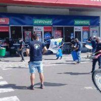 Jerárquicos de Comercio se manifestaron en la sucursal Avellaneda del mayorista Vital en reclamo por maltrato laboral