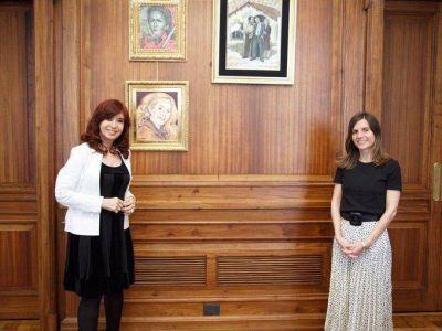 Fernanda Raverta mantuvo un encuentro con Cristina Kirchner