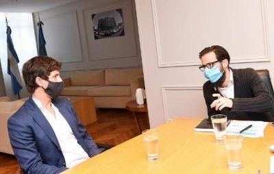Juan Andreotti se reunió con el ministro Simone por obras para San Fernando