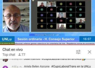 El Consejo Superior de la UNLu aprobó el Cupo Laboral Trans